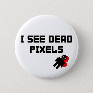 Badge Rond 5 Cm Pixels morts de Sarah Marshall