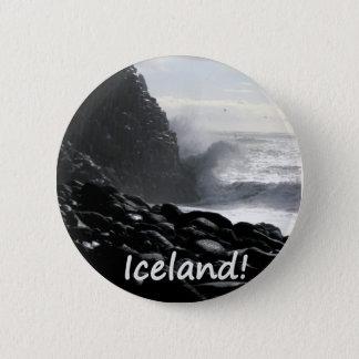 Badge Rond 5 Cm Plage Islande de Reynisfjara