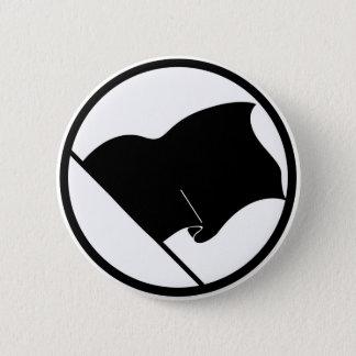 Badge Rond 5 Cm Plaine pourpre verte noire de drapeau aucun blanc