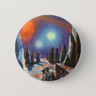 Badge Rond 5 Cm Planète étrangère vintage de la science-fiction