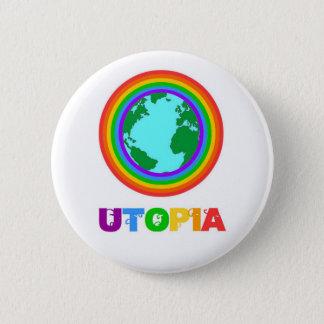 Badge Rond 5 Cm Planète Utopia