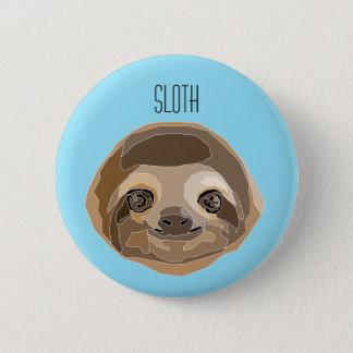 Badge Rond 5 Cm Plaque avec illustration - d'un Sloth Paresseux