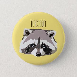 Badge Rond 5 Cm Plaque avec illustration Mapache