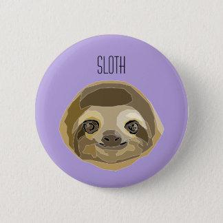 Badge Rond 5 Cm Plaque Paresseuse - Sloth