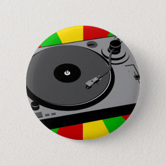 Badge Rond 5 Cm Plaque tournante de Rasta