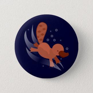 Badge Rond 5 Cm plongée mignonne d'ornithorynque