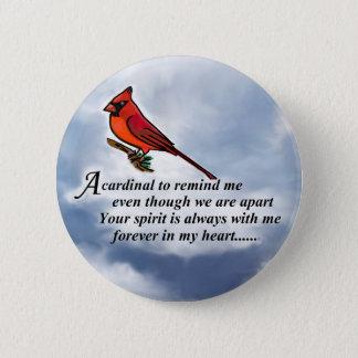 Badge Rond 5 Cm Poème commémoratif cardinal