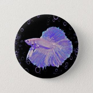 Badge Rond 5 Cm Poissons de combat pourpres iridescents