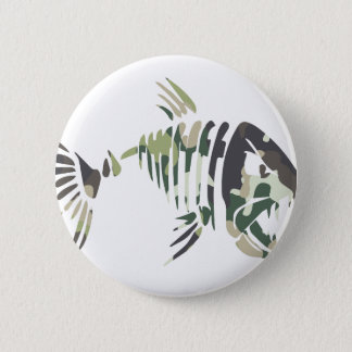 Badge Rond 5 Cm Poissons fâchés de camouflage, pour le pêcheur