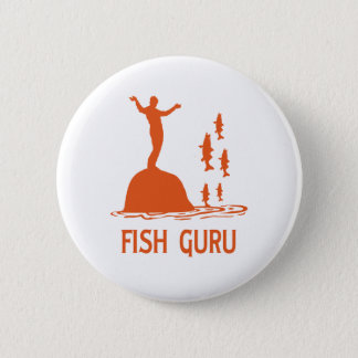 Badge Rond 5 Cm Poissons Guru