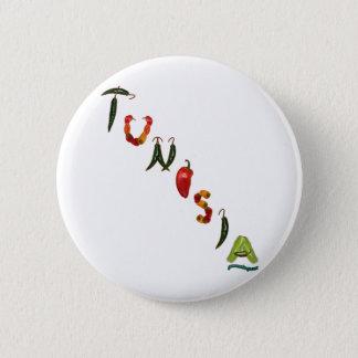 Badge Rond 5 Cm Poivrons de piment de la Tunisie