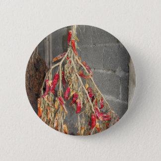 Badge Rond 5 Cm Poivrons de piment rouge accrochant pour sécher