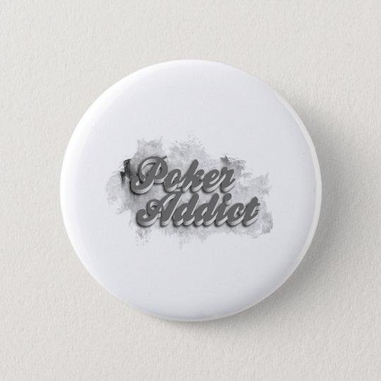 Badge Rond 5 Cm Poker addict
