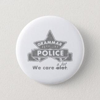Badge Rond 5 Cm Police de grammaire