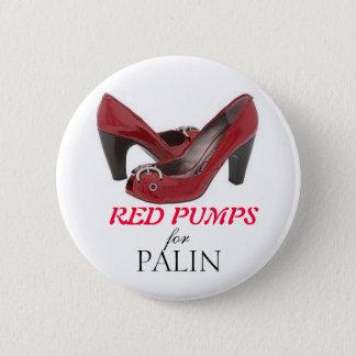 Badge Rond 5 Cm POMPES ROUGES pour Palin