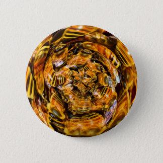 Badge Rond 5 Cm Portail psychédélique d'abeille