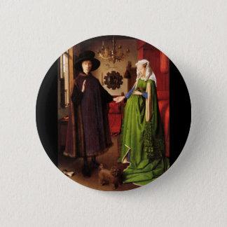 Badge Rond 5 Cm Portrait d'Arnolfini