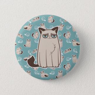 Badge Rond 5 Cm Position excentrique de chat de Kitty