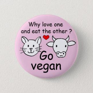 Badge Rond 5 Cm Pourquoi aimer l'un et manger l'autre?