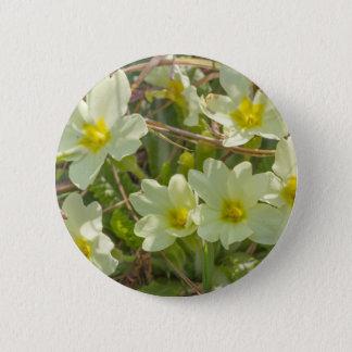 Badge Rond 5 Cm primevères dans le pré au printemps
