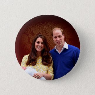 Badge Rond 5 Cm Princesse Charlotte Elizabeth Diana