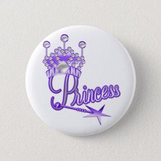 Badge Rond 5 Cm Princesse héritière pourpre