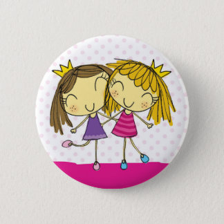 Badge Rond 5 Cm Princesse rose d'amis