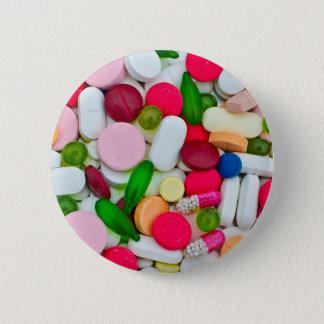 Badge Rond 5 Cm Produit coloré de coutume de pilules