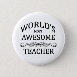 Badge Rond 5 Cm Professeur impressionnant