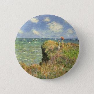 Badge Rond 5 Cm Promenade de falaise chez Pourville par Claude