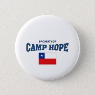 Badge Rond 5 Cm Propriété d'espoir de camp, Chili