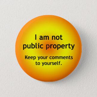 Badge Rond 5 Cm Propriété non publique