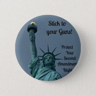 Badge Rond 5 Cm Protégez le deuxième amendement redresse…