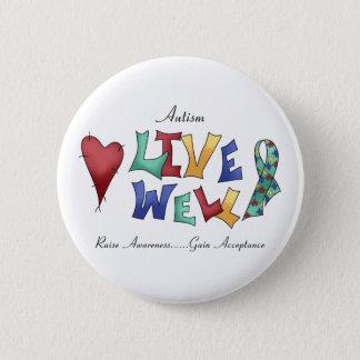 Badge Rond 5 Cm Puits vivant d'Autisme