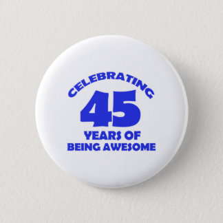 Badge Rond 5 Cm quarante-cinquième conceptions d'ans
