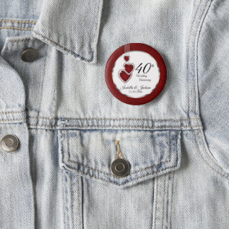 Badge Rond 5 Cm quarantième, cinquante-deuxième ou