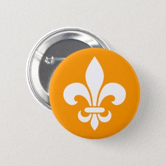 Badge Rond 5 Cm Québec fleur de lys élégant France - VOS COULEURS