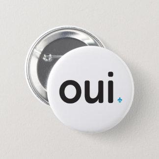 Badge Rond 5 Cm Québec OUI RÉFÉENDUM Patriotisme FRANÇAIS