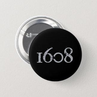 Badge Rond 5 Cm Québec patriotisme 1608 grunge métal VOS COULEURS