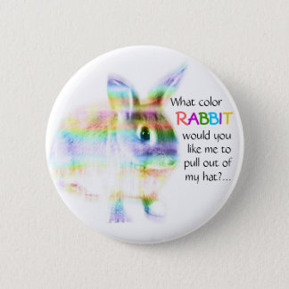 Badge Rond 5 Cm Quel lapin de couleur… ?