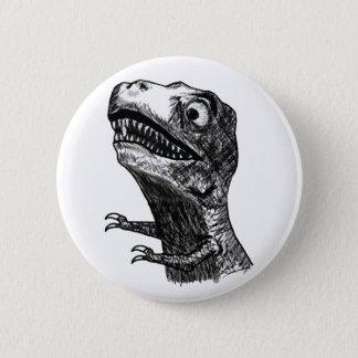 Badge Rond 5 Cm Rage Meme de T-Rex - bouton de Pinback