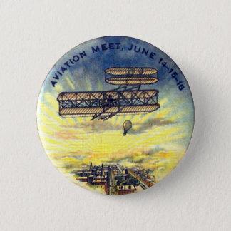 Badge Rond 5 Cm Rassemblement d'aviation - bouton