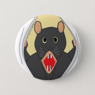 Badge Rond 5 Cm Rat éclatant