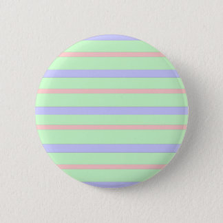 Badge Rond 5 Cm Rayures en pastel horizontales