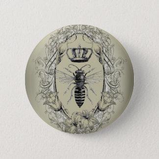 Badge Rond 5 Cm reine des abeilles chic de couronne de victorian