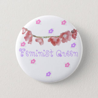 Badge Rond 5 Cm reine féministe (◕‿◕✿)