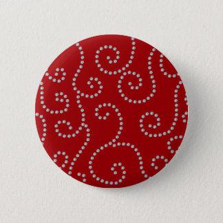 Badge Rond 5 Cm Remous rouges de diamant