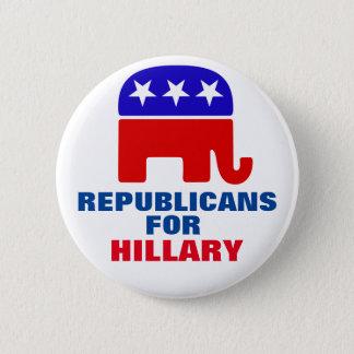 Badge Rond 5 Cm Républicains pour Hillary Clinton