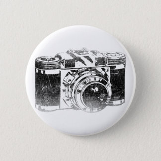 Badge Rond 5 Cm Rétro appareil-photo des années 50