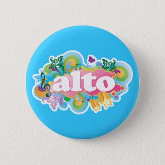 Badge Rond 5 Cm Rétro cadeau de choeur de chanteur d'alto d'éclat